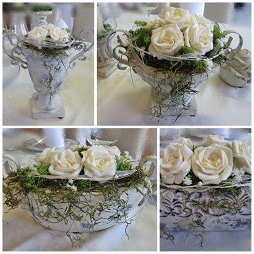 Tischgesteck, Tischdeko, Tischdekoration, Hochzeit