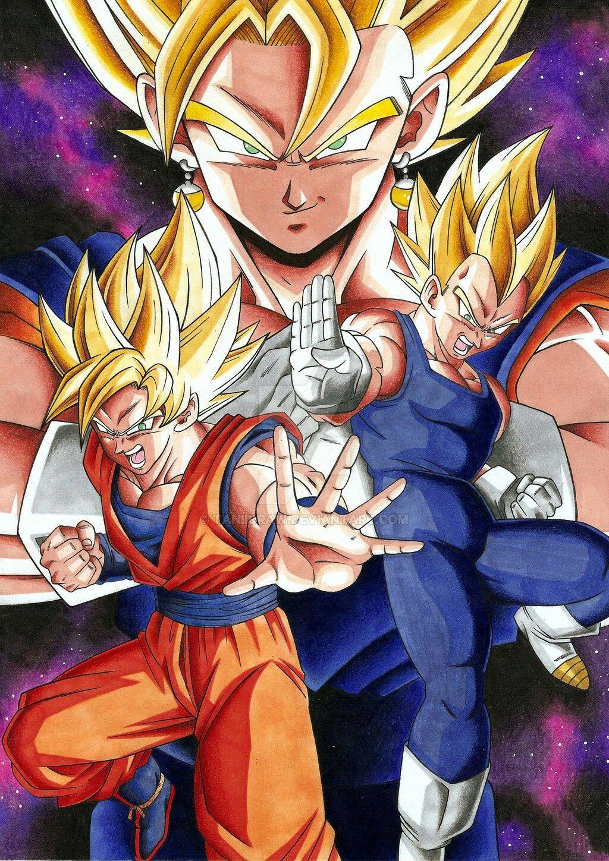 Vegito Fusion Of Goku And Vegeta Dragon Ball Artwork Dragon Ball Goku Dragon Ball Art
