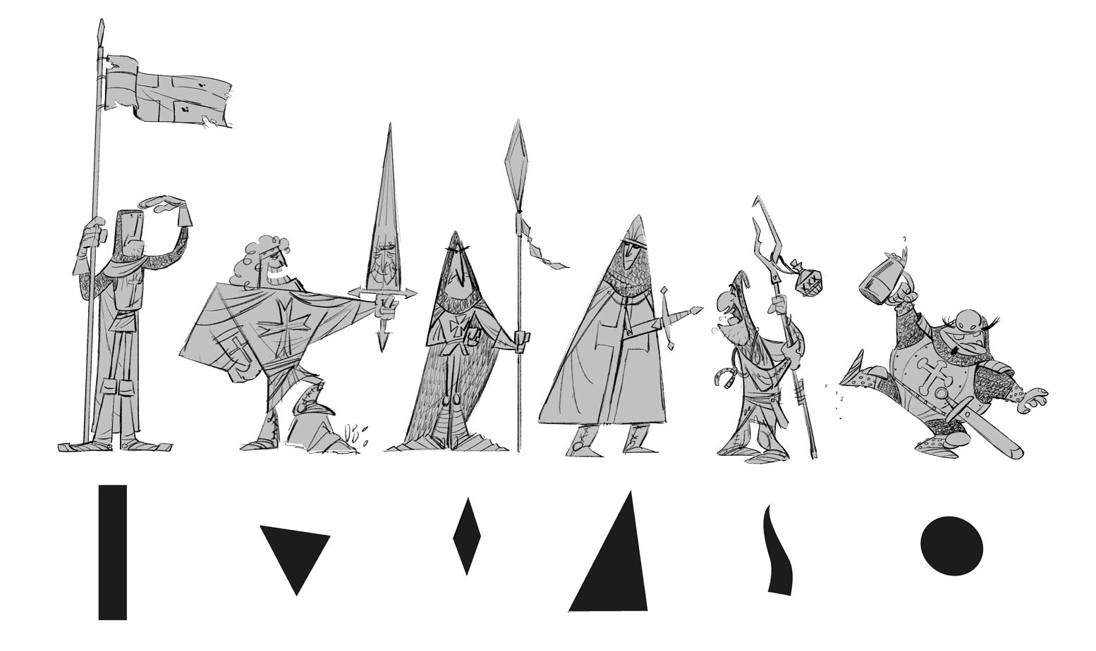 Shapes And Character Design : Art by stefano camelli website http tarkstuff
