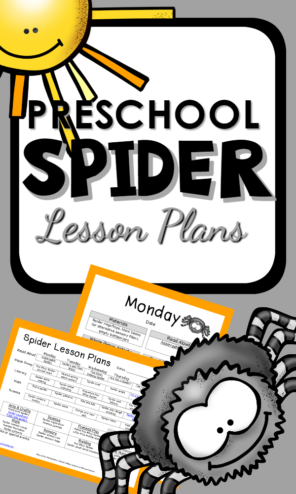Spider Theme Preschool Classroom Lesson Plans | Spider, Activities ...