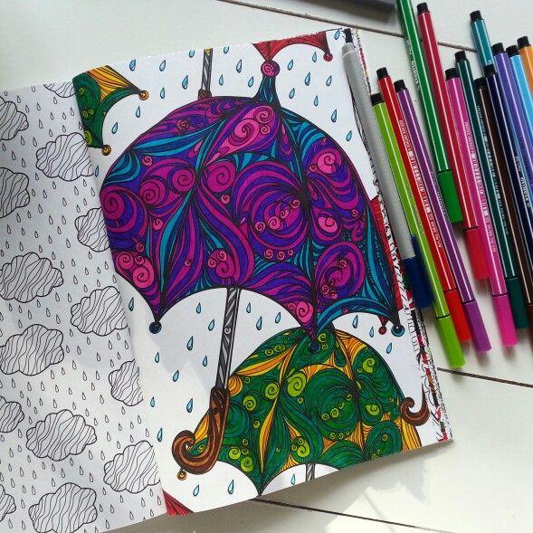 het derde enige echte kleurboek voor volwassenen paraplu