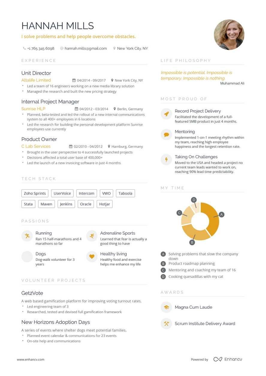 Free Resume Builder Online Resume Builder Enhancv Com Online Cv Template Free Resume Builder Online Resume Builder