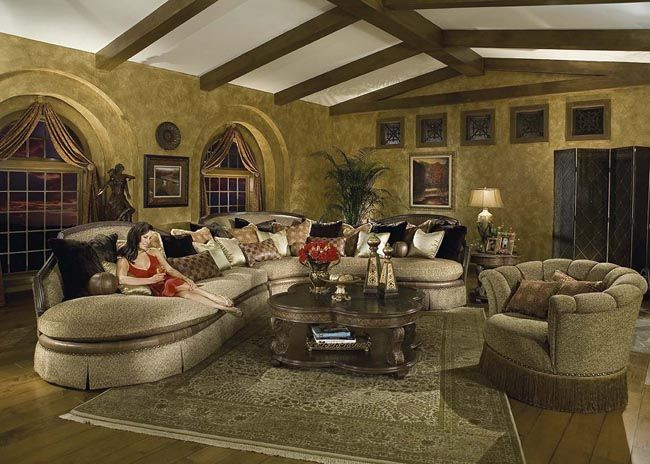 Italian traditional comfortable living room furniture design ...