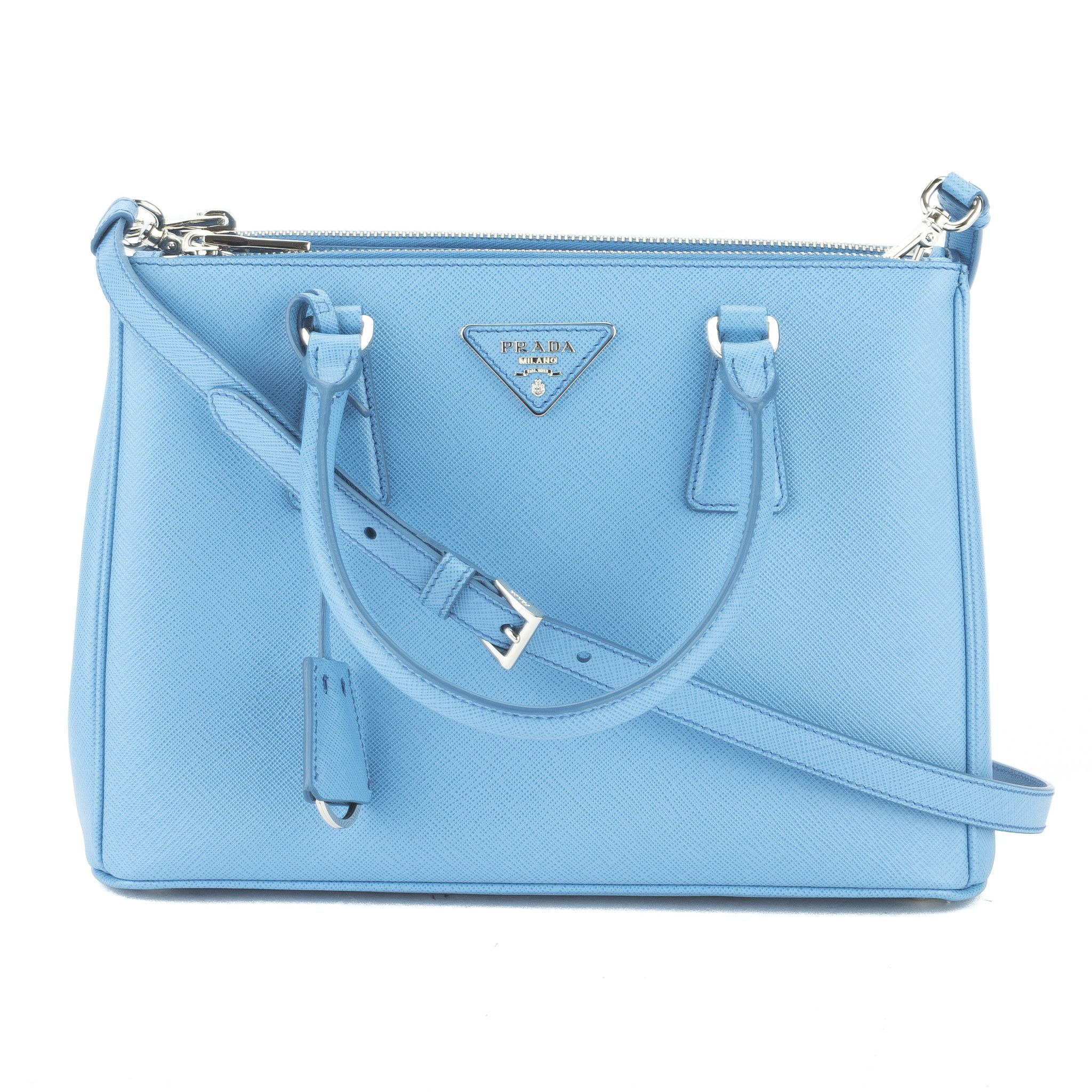 bc4d46d3075e ... coupon code this is an authentic prada saffiano lux mini galleria bag  in a beautiful cobalt
