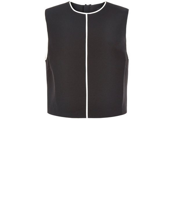 Black Contrast Trim Sleeveless Top  | New Look - 23 EUROS