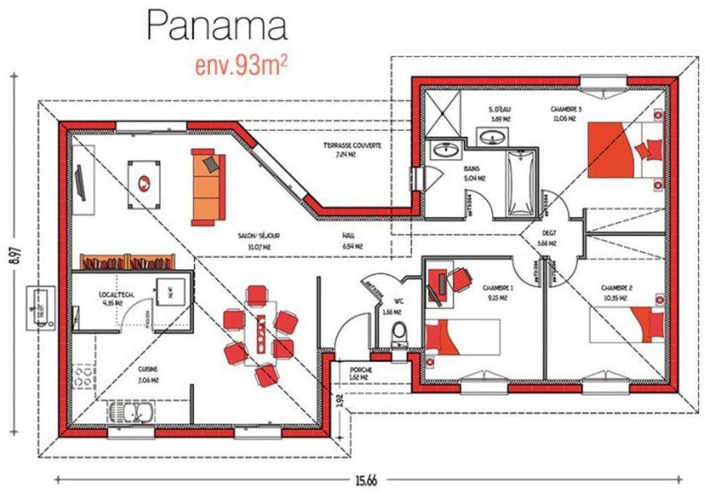 Maison de m2 Projets à essayer Pinterest Panama and House - logiciel de plan de maison gratuit