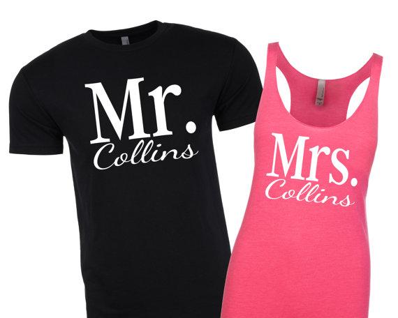 470aedc0d Mr and Mrs Shirts. Newlywed Shirts. Honeymoon Shirts. Mr. and Mrs. Shirt.  Bride and Groom Shirts. Mr Shirt. Mrs Tank. Mrs Shirt.