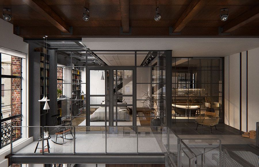 Arredamento Loft ~ Arredamento stile industriale per loft 25 inside pinterest