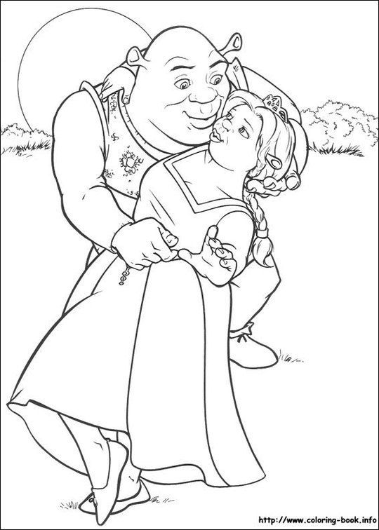Image Detail For Shrek Coloring Pages For Kids Quazen