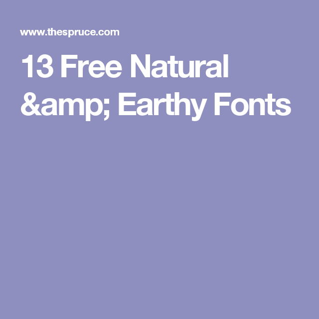 13 Free Fonts That Are Inspired By Green Living Crafts Diy