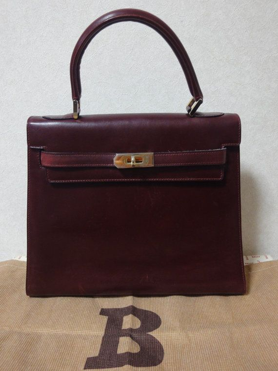 cf42c9917447d This is one of the oldest vintage bags from Bally back in the 70s ...