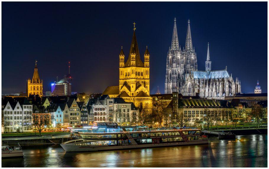 Köln bei Nacht von Achim Sieger