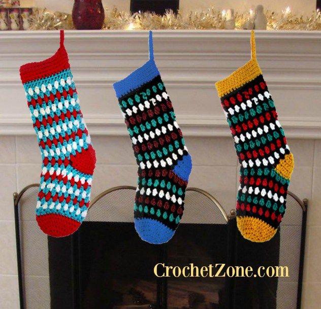 Crochet Diamonds & Gems Stockings Pattern | Holiday - Christmas ...