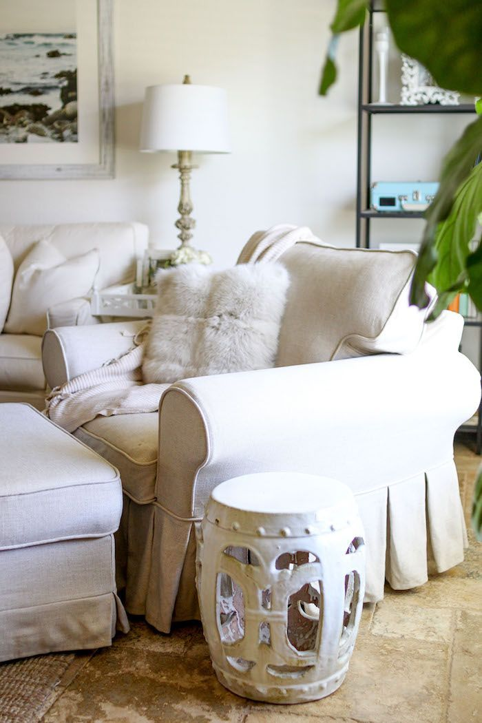 Custom Rp Armchair Slipcover Special Order With Super Multi Pleats