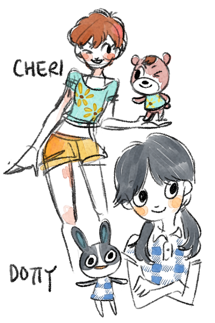 30 Day Acnl Drawing Challenge Day 4 Draw Your Favourite Peppy