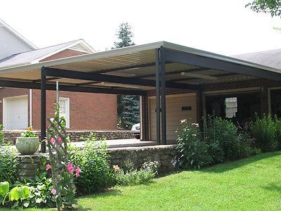 20 X 20 Wall Attached Aluminum Carport Kit 019 Patio Cover Kit Covered Patio Patio Aluminum Carport