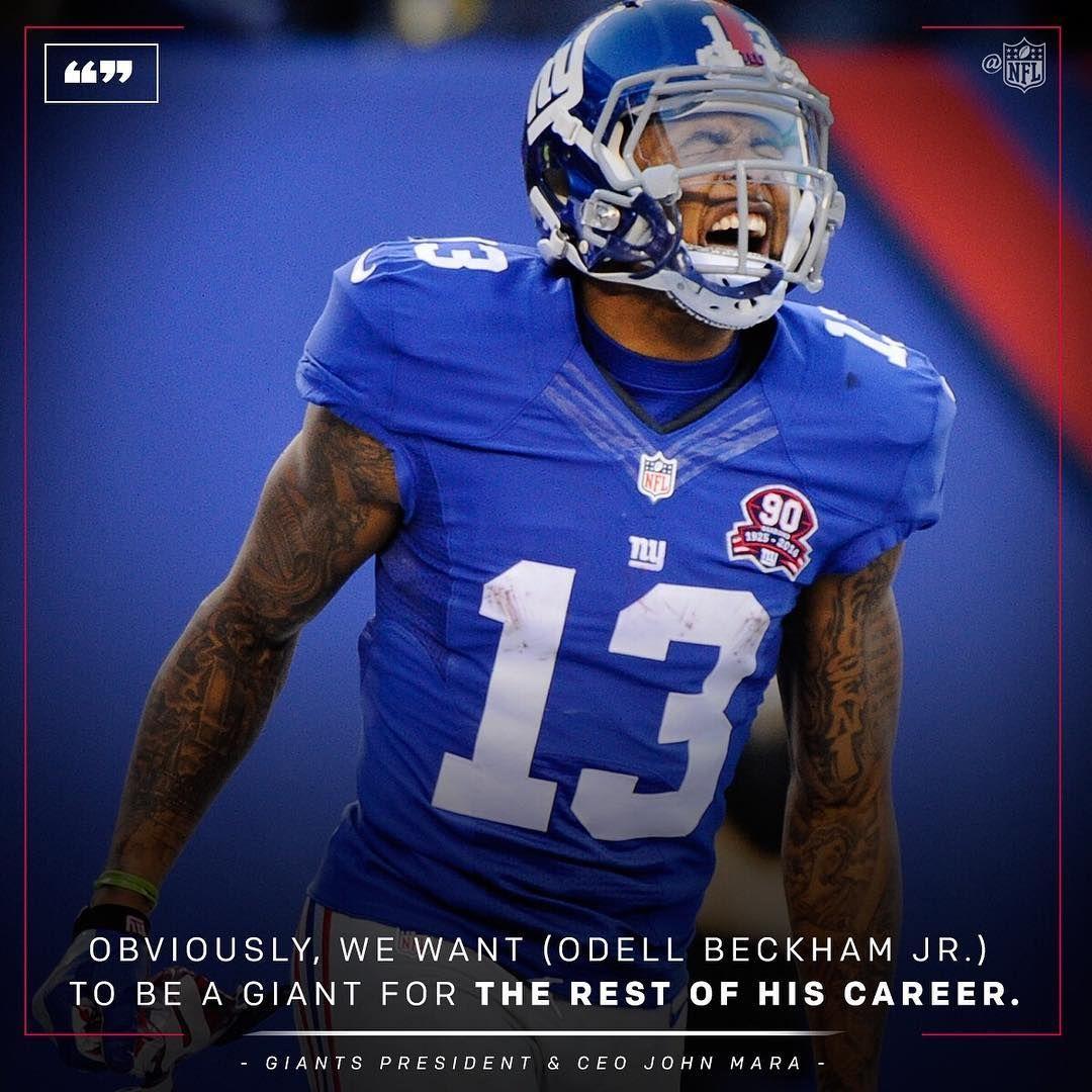 Big Blue Wants Obj Around For The Long Haul Bill Kostroun Ap New York Giants Logo New York Giants Football Odell Beckham Jr