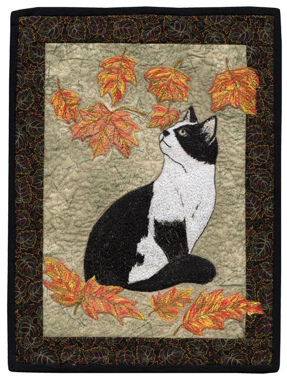 Falling Leaves By Barbara Beaumont AAQI Designer Ruth Soffer