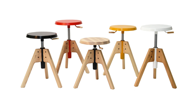 Height Adjustable Wooden Stool PICO 2013 Collection By Valsecchi 1918 |  Design Emiliana Design Studio