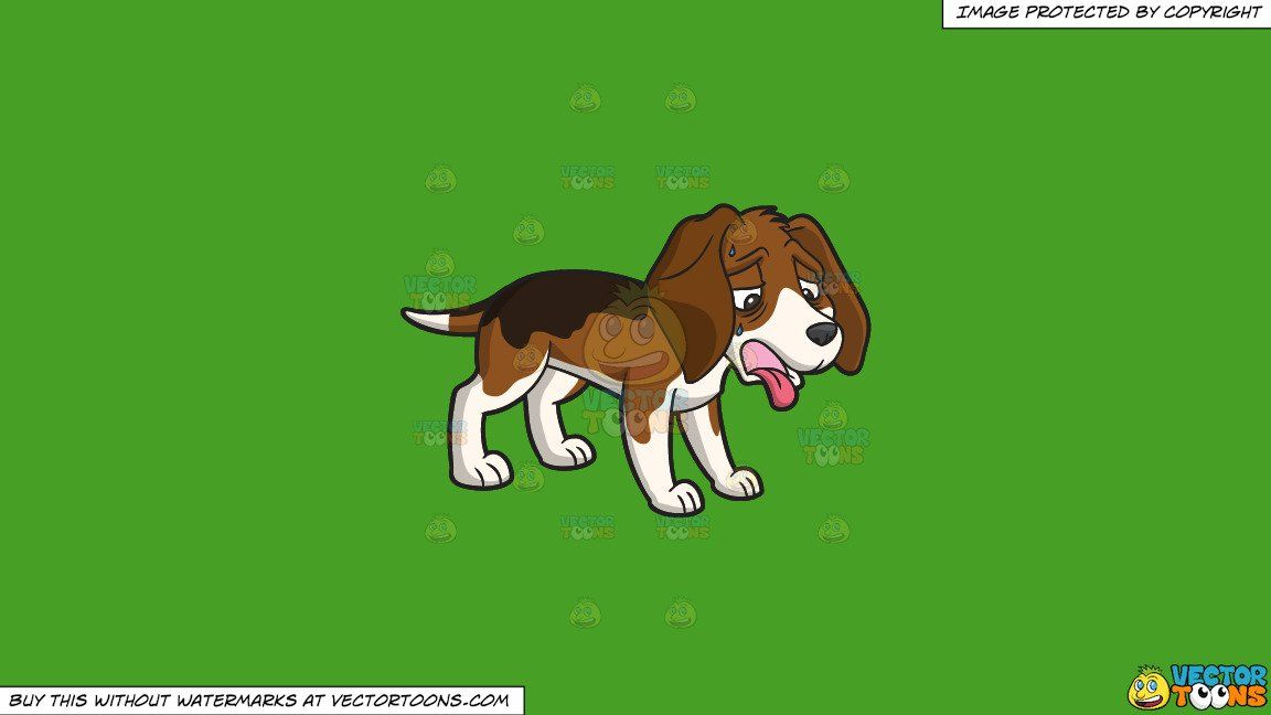 Clipart An Exhausted Dog Panting And Sweating On A Solid Kelly Green 47a025 Background In 2021 Dog Pants Cartoon Image Clip Art