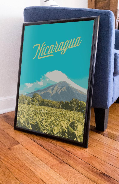 Concepcion Volcano Ometepe Nicaragua Poster 11x17 18x24 24x36 Concepcion Yosemite Map Poster Design