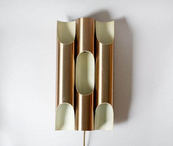 Dutch Copper Wall Sconce Raak 1970s Raak Dutchdesign Fuga Copper Lamp Lighting Sconce Light Copper Wall Sconce Copper Wall Light Iron Wall Sconces