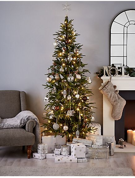 Marks and Spencer 7Ft Fraser Fir Slim Pre Lit Christmas Tree ...