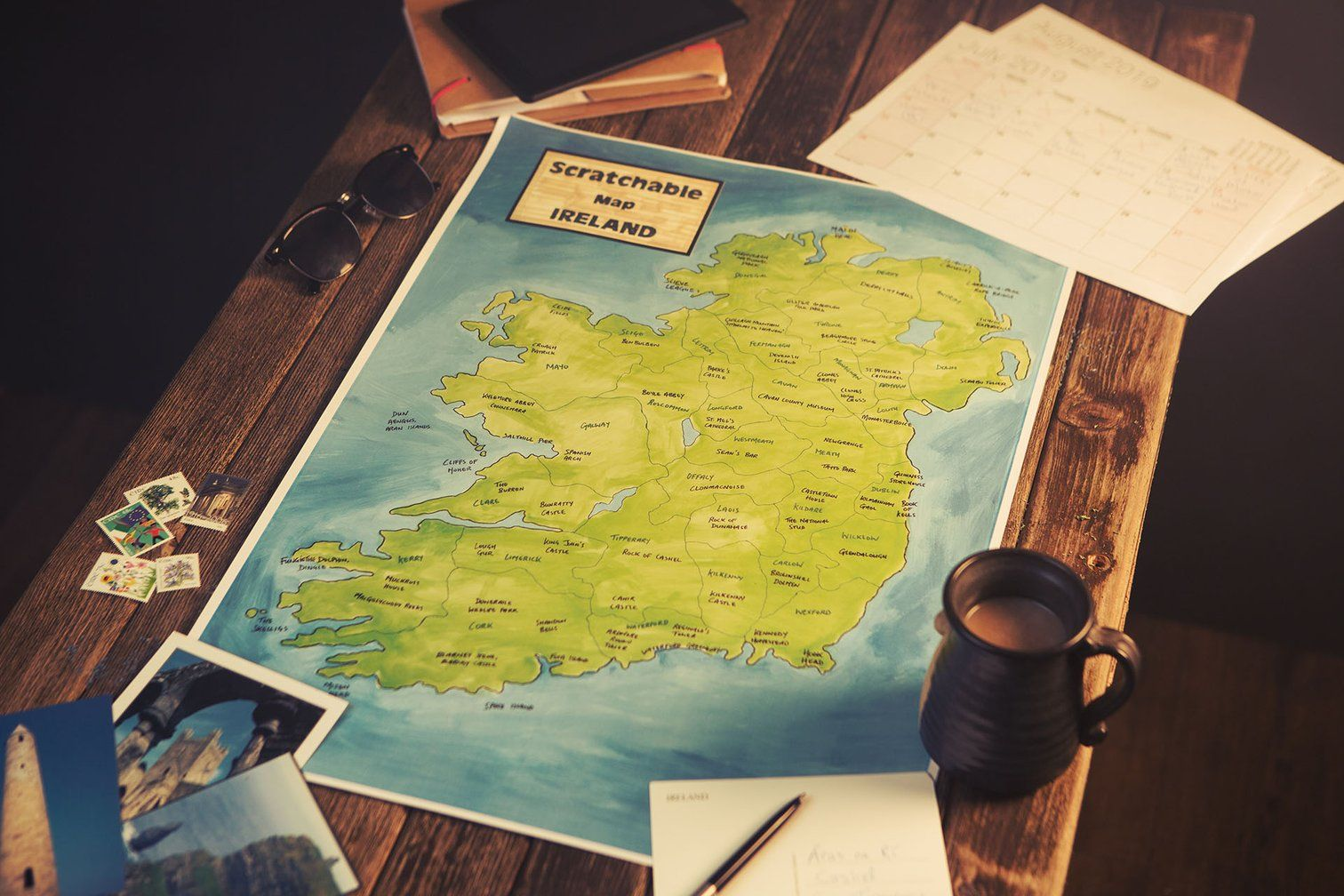 Scratchable Map Ireland | Cool places to visit, How to draw ...
