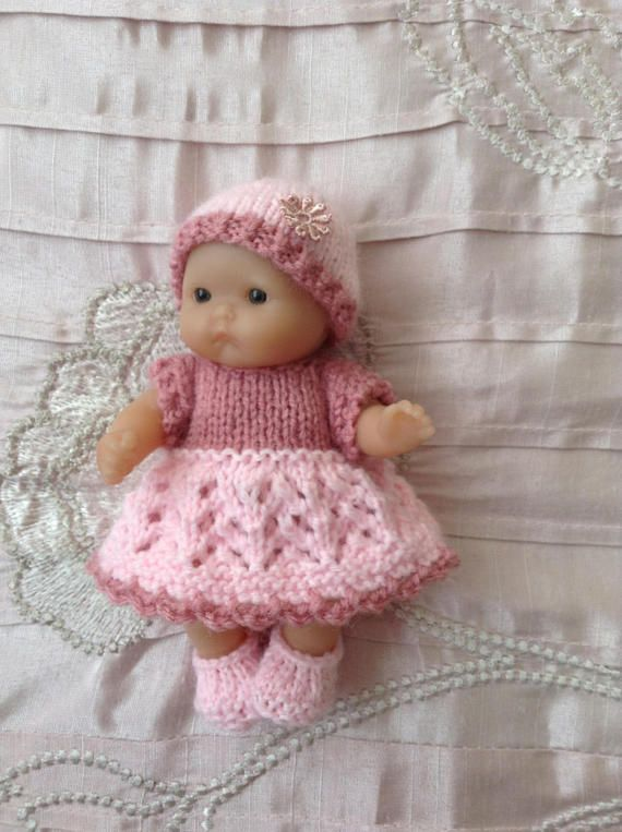 Hand Knitted Dolls Clothes To Fit 5 Berenguer Itty Bitty Crochet