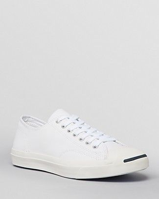 7a130450351fc5 CONVERSE MEN S JACK PURCELL LEATHER LACE UP SNEAKERS.  converse  shoes   sneakers
