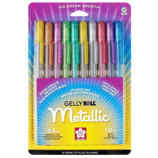 Gelly Roll 174 Medium Metallic Pen Set Bible Journaling