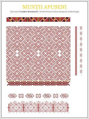 Semne Cusute: model de camasa din MUNTII APUSENI | Folk Art | Pinterest