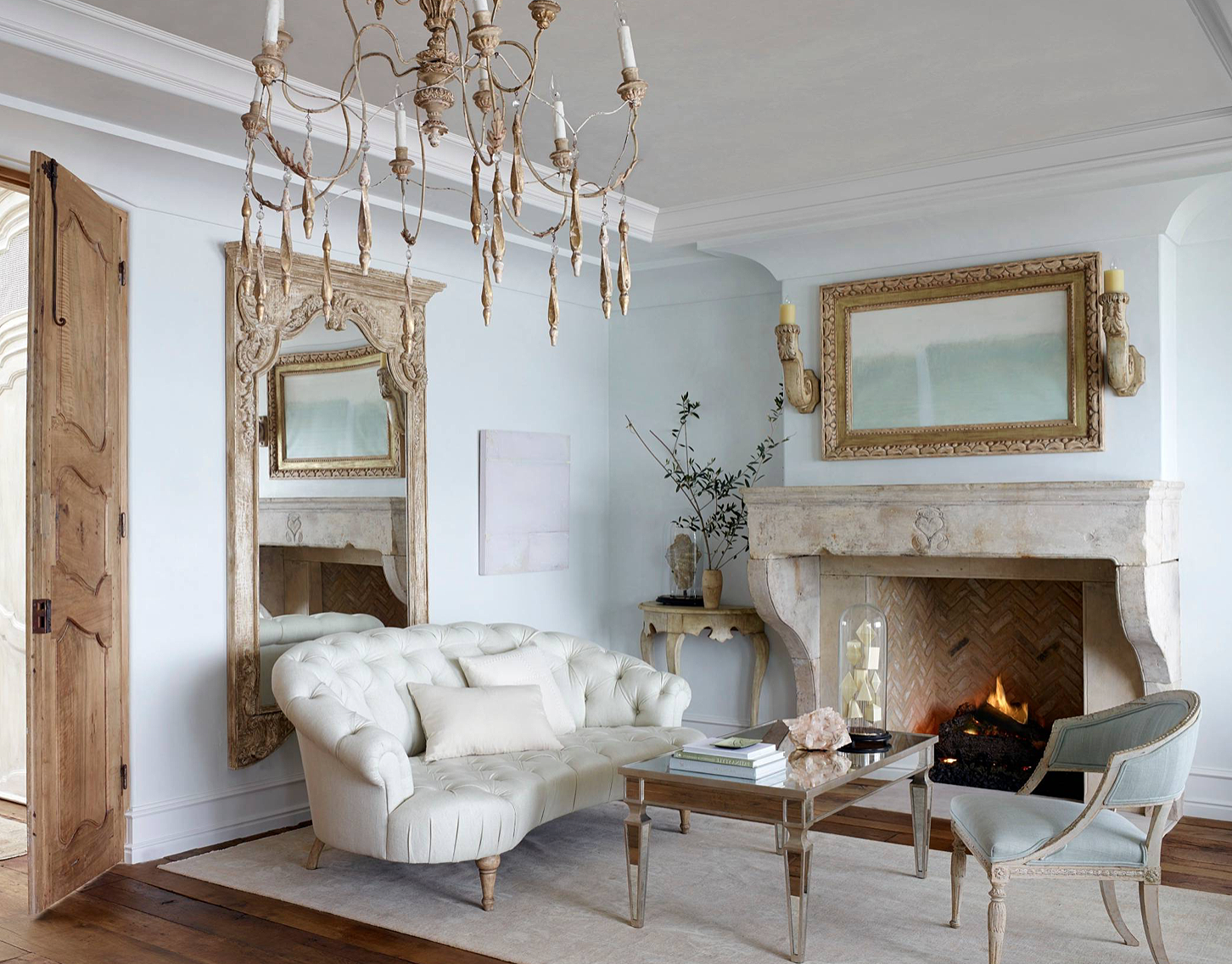 Majestic French Country Style Beige Rustic Living Room Decor With Tufted Sofa Living Room Decor Rustic Country Style Living Room Country Style Bedroom #tufted #sofa #living #room #ideas