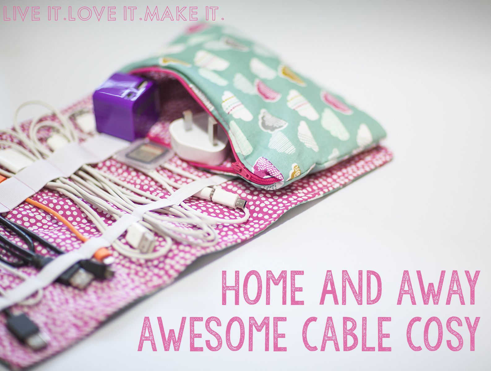 How-To: Travel Cable Cozy | Ladekabel, Wenn man und Zuhause