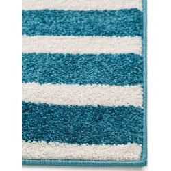 Photo of benuta Kids carpet Noa Kids Stripes turquoise 160×230 cm – carpet for children's room benuta