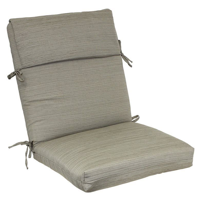 Allen Roth Natural High Back Chair Cushion Lowe S Canada