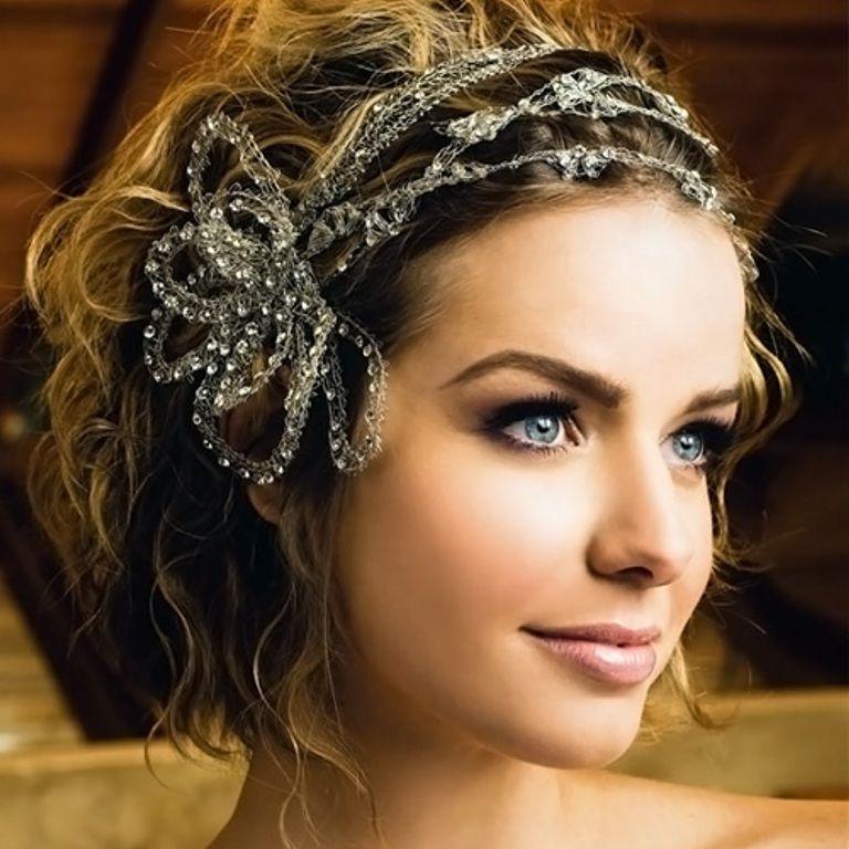 Short Bridal Hairstyles With Headband
