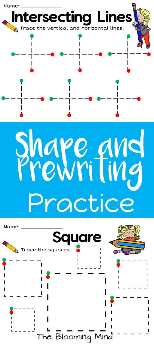 Need help with with prewriting and fine motor skills? These 11 shape ...