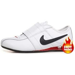 www.asneakers4u.com Mens Nike Shox R3 Velcro White Black Red