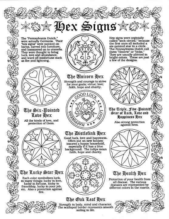 Hex Signs Book Of Shadows Pinterest Symbols Witches And Folk Art
