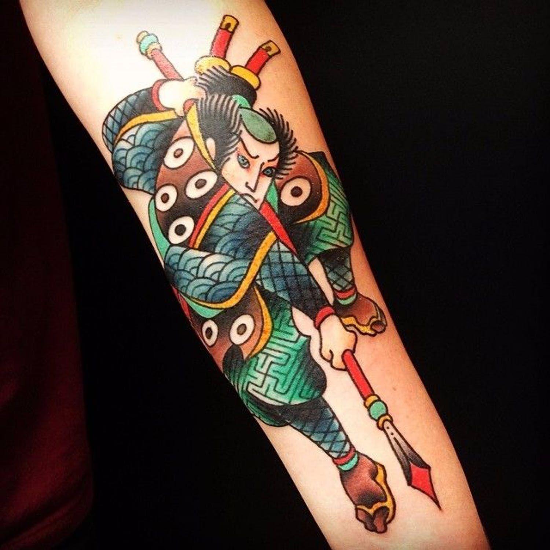 Elegante тату в японском стиле маленькие
