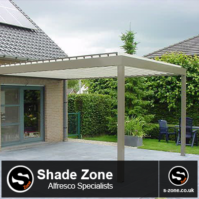 Superb Introducing Algarve Rotating Blade Canopy The Perfect Terrace Covering For  Schools The Shade Zone In Hull