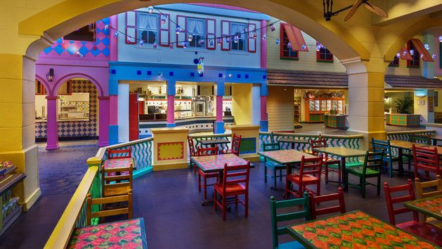 Walt Disney World Resorts Old Port Royale Food Court At Caribbean Beach Resort