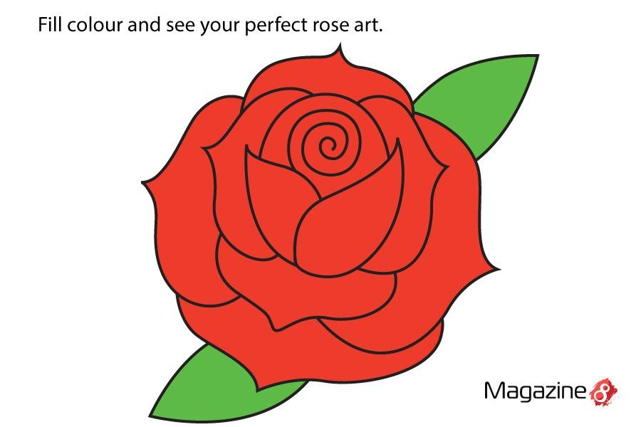 how to draw a perfect rose