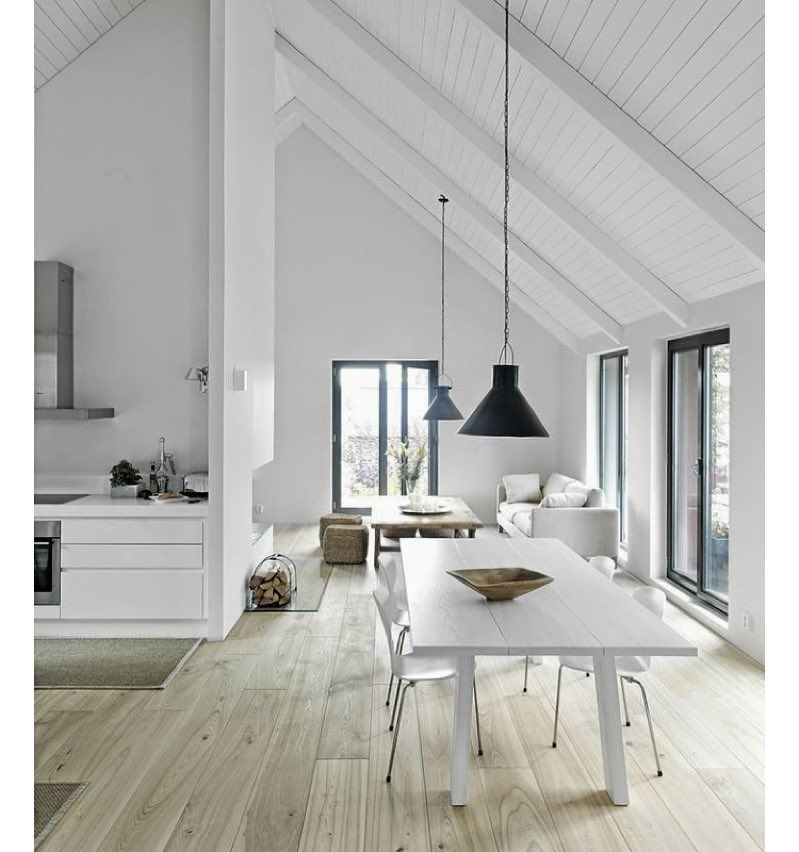 Pitched roof.. #pitched #roof #ceiling #white #neutral #love #luxe ...