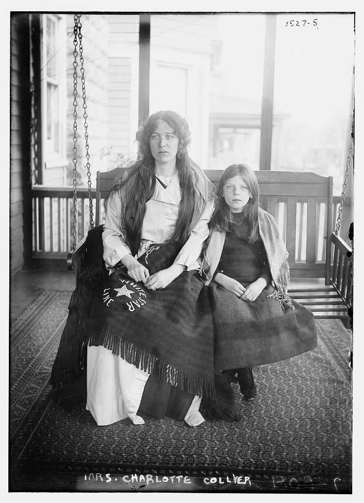 Titanic survivors Charlotte & Marjorie Collyer (2 months after the disaster on April 14th, 1912)