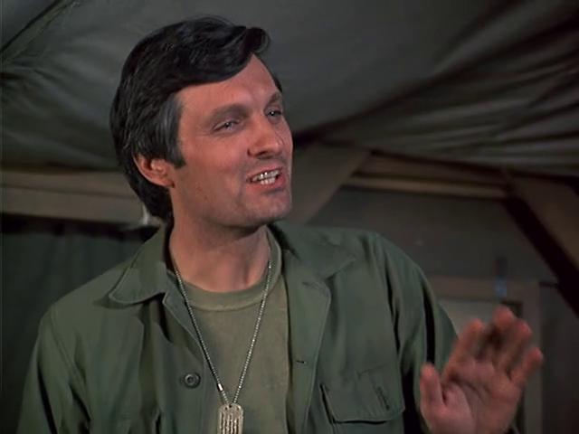 "M*A*S*H: Season 1, Episode 14 Love Story (7 Jan. 1973)  Hawkeye"" Pierce, Alan Alda"