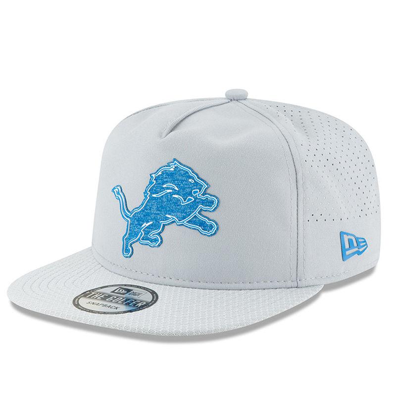 ac72d6f6e31 Detroit Lions New Era 2018 Training Camp Official Golfer Hat – Gray ...