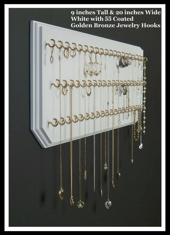 Jewelry Organizer Hanging Necklace Holder Wall by eznecklaceholder