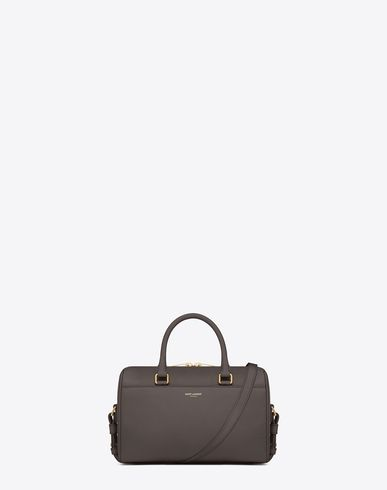 CLASSIC BABY DUFFLE BAG IN EARTH LEATHER